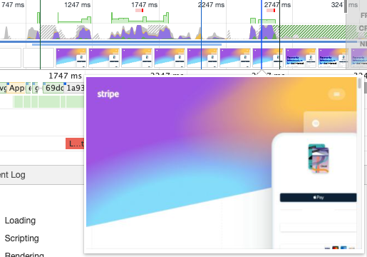 Slower Chrome filmstrip recording starting from blank page