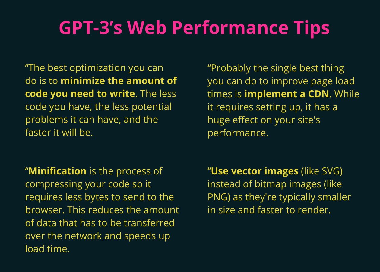 GPT performance tips