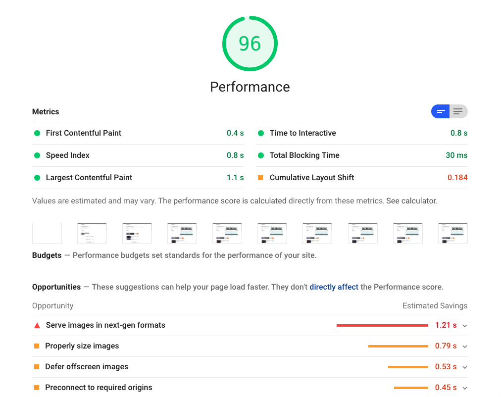 Performance recommendations to make your website faster